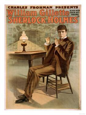 Sherlock Holmes Theatrical Play Poster No.1 by Lantern Press