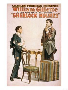 Sherlock Holmes Theatrical Play Poster No.3 by Lantern Press
