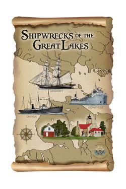 Shipwrecks of the Great Lakes by Lantern Press