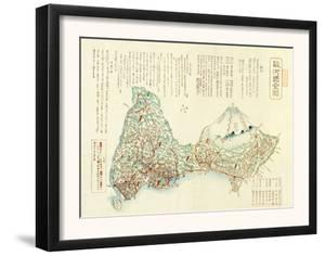 Shizuoka-ken, Japan - Panoramic Map by Lantern Press