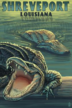 Shreveport, Louisiana - Alligators by Lantern Press