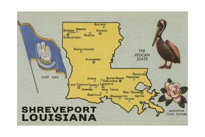 Maps Of Louisiana Posters At AllPosterscom - Louisana state map