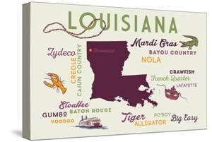 Shreveport, Louisiana - Typography and Icons by Lantern Press