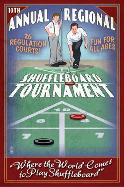 Shuffleboard - Vintage Sign by Lantern Press