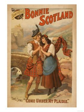 Sidney R. Ellis' Bonnie Scotland Scottish Play Poster No.2 by Lantern Press