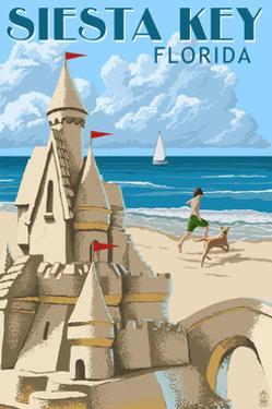 Siesta Key, Florida - Sandcastle by Lantern Press
