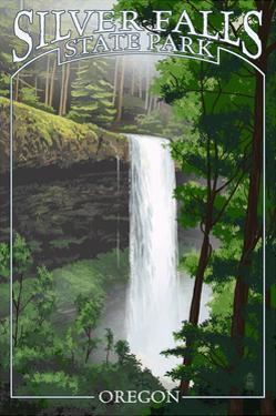 Silver Falls State Park, Oregon - South Falls by Lantern Press