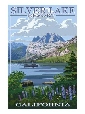 Silver Lake Resort, California - Summer Scene by Lantern Press