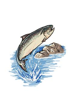 Silver Salmon - Icon by Lantern Press