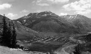 Silverton, Colorado - Aerial View of Town by Lantern Press