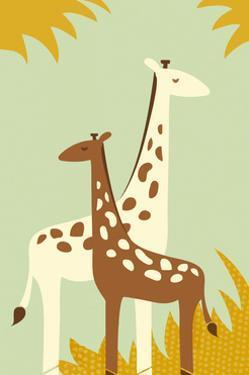 Simple Giraffe - Yellow by Lantern Press