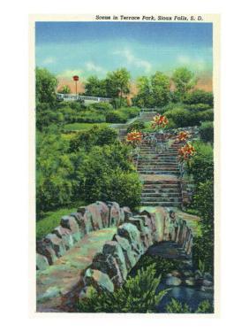 Sioux Falls, South Dakota, Scenic View in Terrace Park by Lantern Press