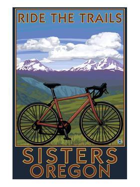 Sisters, Oregon - Mountain Bike by Lantern Press