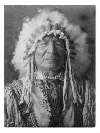 Sitting Bear, Arikara Native American Man Curtis Photograph by Lantern Press