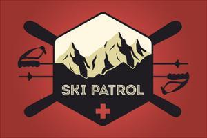 Ski Patrol Badge - Vector Style by Lantern Press