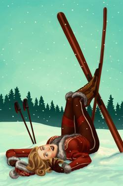 Ski Pinup by Lantern Press