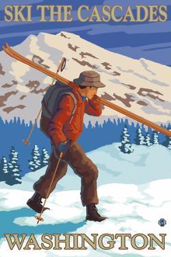 Ski the Cascades, Cascade Mountains, Washington by Lantern Press