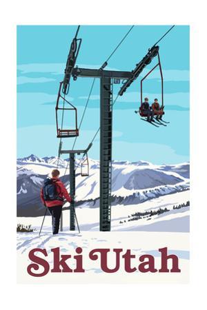 Ski Utah - Ski Lift Day Scene
