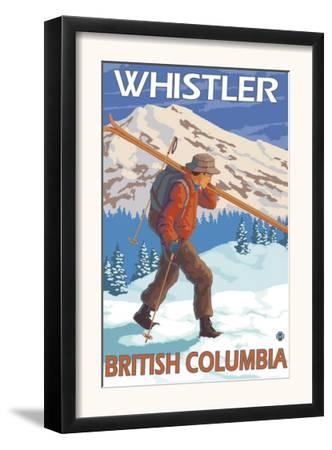 Skier Carrying Snow Skis, Whistler, BC Canada by Lantern Press