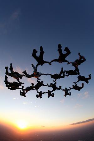 Skydiving Scene by Lantern Press