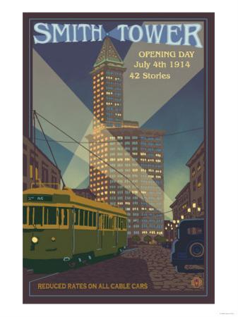 Smith Tower, Seattle, Washington by Lantern Press