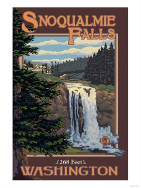 Snoqualmie Falls by Day, Washington by Lantern Press
