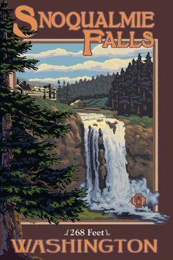 Snoqualmie Falls by Day, Washington by Lantern Press