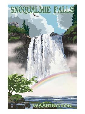 Snoqualmie Falls, Washington - Summer Scene by Lantern Press