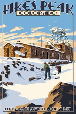 Snow Scene Atop Pikes Peak, Colorado by Lantern Press