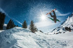 Snowboarder Jumping by Lantern Press