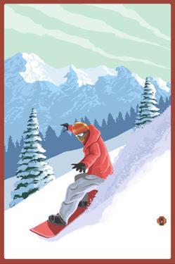 Snowboarder by Lantern Press