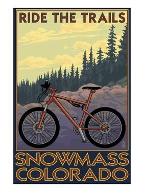 Snowmass, Colorado - Mountain Bike by Lantern Press