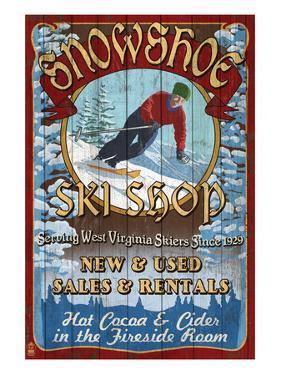 Snowshoe, West Virginia - Ski Shop by Lantern Press