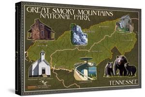 Soft Map - Great Smoky Mountains National Park, TN by Lantern Press