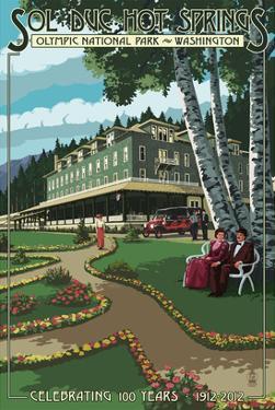 Sol Duc Hot Springs Hotel, Olympic National Park, Washington by Lantern Press