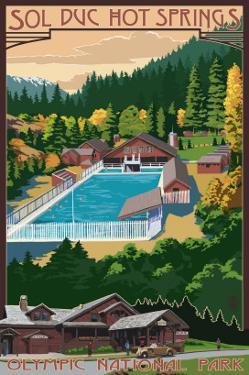 Sol Duc Hot Springs, Olympic National Park, Washington by Lantern Press