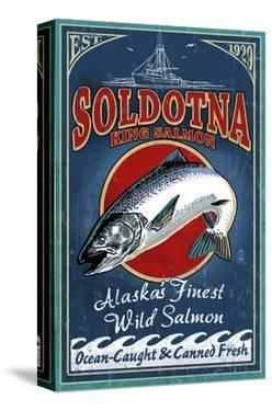 Soldotna, Alaska - Salmon by Lantern Press