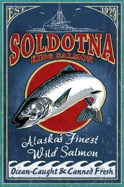 Soldotna, Alaska - Salmon by Lantern Press