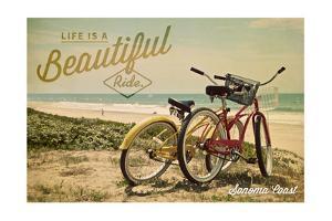 Sonoma Coast, California - Life is a Beautiful Ride - Beach Cruisers by Lantern Press