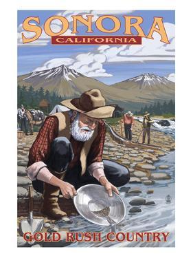Sonora, California - Gold Miners by Lantern Press