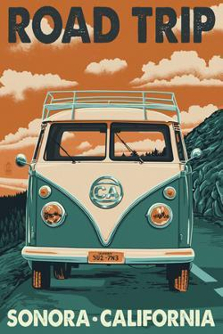 Sonora, California - Road Trip VW Van by Lantern Press