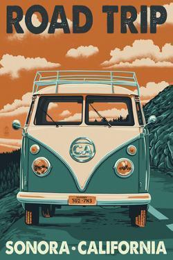 Sonora, California - Road Trip VW Van by Lantern Press