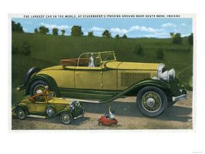 South Bend, Indiana - Largest Car in World, Studebaker Proving Grounds by Lantern Press