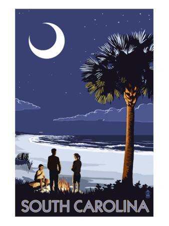 South Carolina Palmetto Moon by Lantern Press