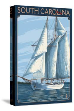 South Carolina Sailboat by Lantern Press