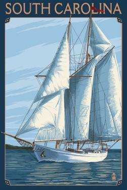 South Carolina Sailboat by Lantern Press