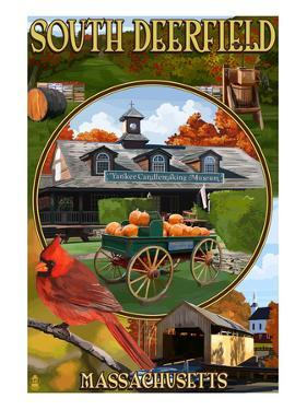 South Deerfield, Massachusetts - Montage Scenes by Lantern Press