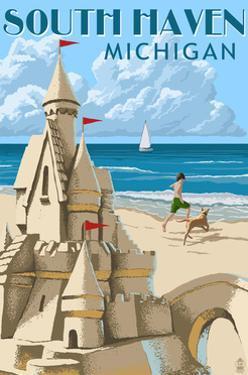 South Haven, Michigan - Sandcastle by Lantern Press