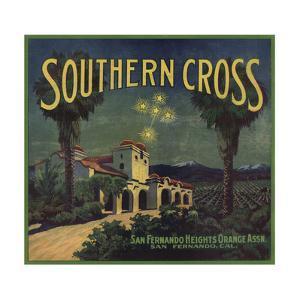Southern Cross Brand - San Fernando, California - Citrus Crate Label by Lantern Press