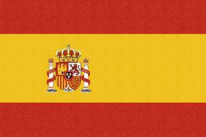 Spain Country Flag - Letterpress by Lantern Press